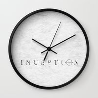 inception Wall Clocks featuring Inception by Tony Vazquez