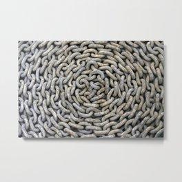 Chain roller - Kettenrolle Metal Print