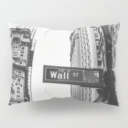 Wall street bw Pillow Sham