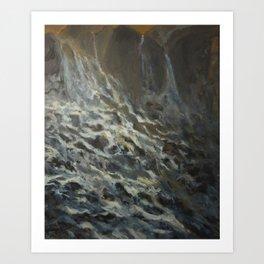 Fantacy Waterfall Art Print