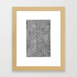 Stockinette Black Framed Art Print