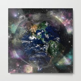 lion earth Metal Print