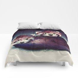 red pandas Comforters
