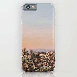 desert sunset v / joshua tree, california iPhone Case