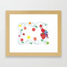 Kitchen scarlet macaw Framed Art Print