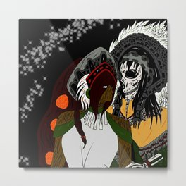 Mictlantecuhtli & Mictecacíhuatl Metal Print