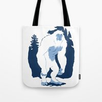 yeti Tote Bags featuring Yeti by Rachel Young