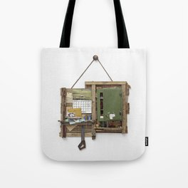 Fragmented Cabin Study in 1:10 Scale Tote Bag