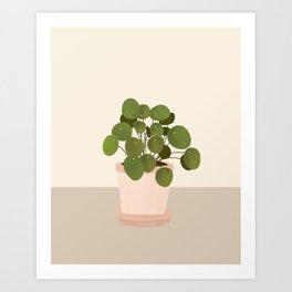 Pilea plant Art Print