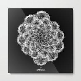 GEOMETRIC NATURE: BROCCOLI b/w Metal Print