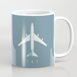 747-400 Jumbo Jet Airliner Aircraft - Slate Coffee Mug