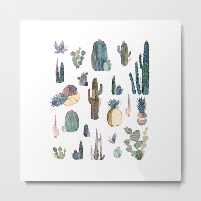 My best Cactus and Pineapples!!!! Metal Print