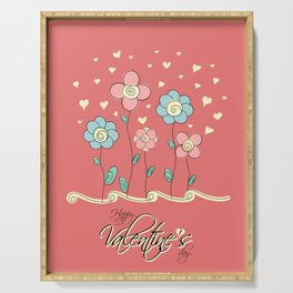 Valentine's day card Serving Tray
