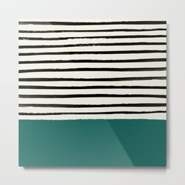 Jungle x Stripes Metal Print