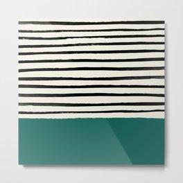 Jungle x Stripes Metal Print