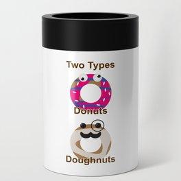 Donut vs Doughnut Can Cooler