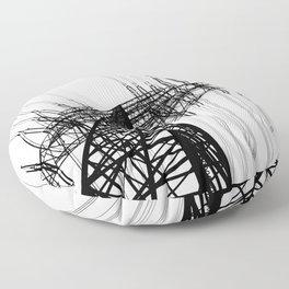 Power Lines Floor Pillow