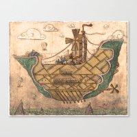 ship Canvas Prints featuring Ship by Cacho de Colegiales