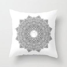 Detailed Mandala Throw Pillow