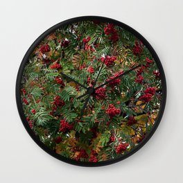 Rowan berries Wall Clock