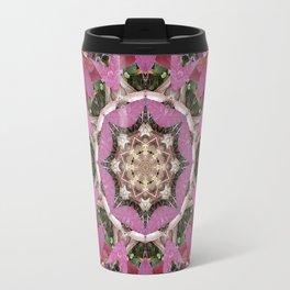 Autumn Leaves Kaleidoscope - White Ash Travel Mug