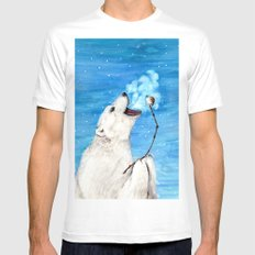 Polar Bear with Toasted Marshmallow MEDIUM Mens Fitted Tee White
