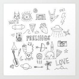stuff & things Art Print