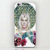 cosmic iPhone & iPod Skins featuring Cosmic by Caroline Augusta