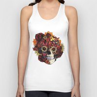 ohm Tank Tops featuring Full circle...Floral ohm skull by Kristy Patterson Design