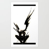 Angel in the Shadows Art Print