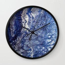 Blue Marble Wall Clock