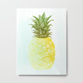 Southern Hospitality Pineapple Metal Print