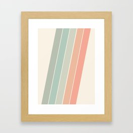 Trippin' - retro 70s socal minimal striped abstract art california surfing vintage Framed Art Print
