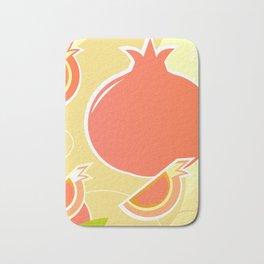 Design wild Pomegranate on gold Bath Mat