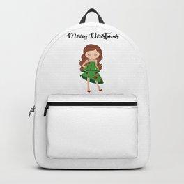 I am a Christmas Girl - Christmas tree inspired Backpack