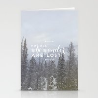 not all who wander Stationery Cards featuring Not all who wander... by E. Phillips - Creative Designer