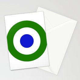 Green Mod Target Stationery Cards