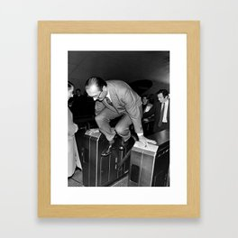 Chirac and the Metro! Framed Art Print