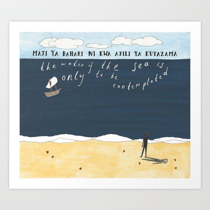 Sea Contemplation Art Print
