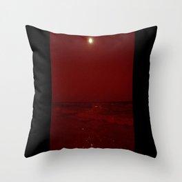 Bloody Beach Throw Pillow