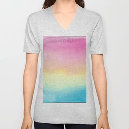 Pansexual Watercolor Wash Unisex V-Neck
