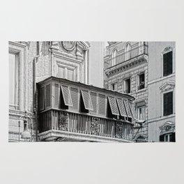 Roman city balcony Rug