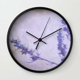 """Violet dream at sunset"" Wall Clock"