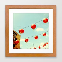 Lanterns III, Chinatown Framed Art Print