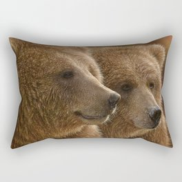 Brown Bears - Lazy Daze Rectangular Pillow