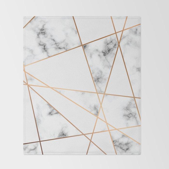 Marble Geometry 054 Throw Blanket