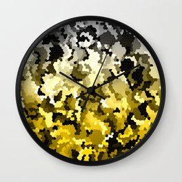 Golden crystals Wall Clock