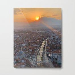 Sunset Over Prizren, Kosovo Metal Print