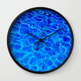 Blue Water Abstract Wall Clock