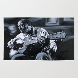 Blues Man With Guitar Rug